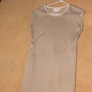 Dresses & Skirts - Knit Neman Marcus size 8 tan dress